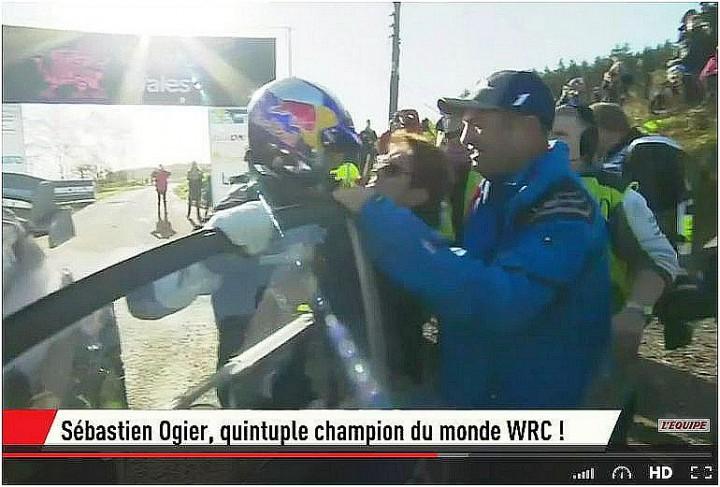 Sebastien Ogier quintuple champion du monde