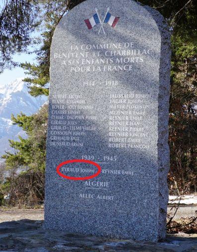 monument aux morts Champsaur