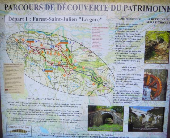 Parcours du Pont Blanc