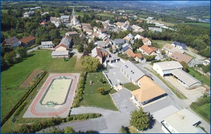 Vue aerienne Saint Laurent du Cros